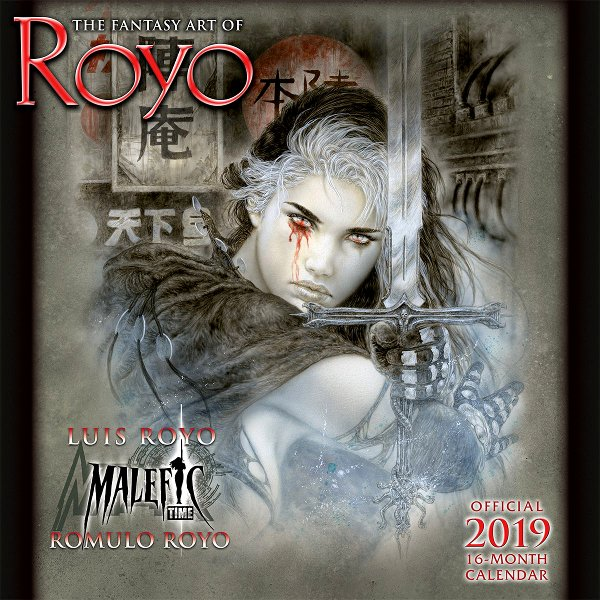 THE FANTASY ART OF ROYO - OFFICIAL 2019 CALENDAR