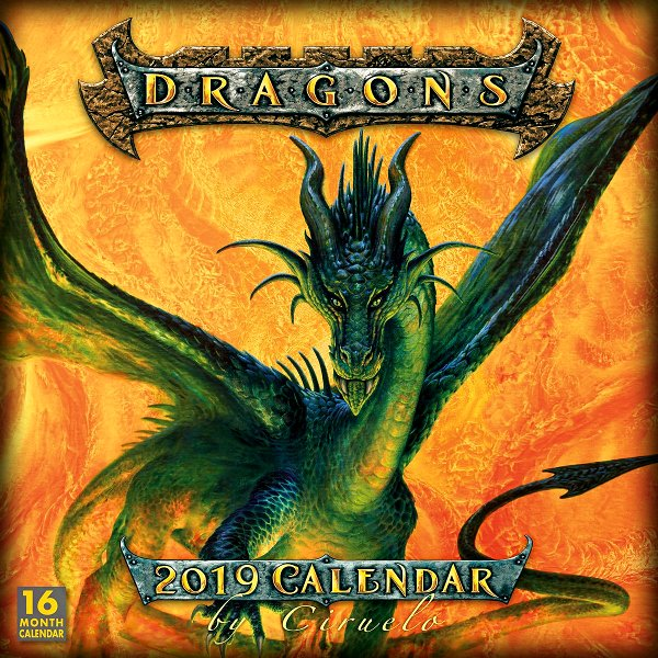 DRAGONS - 2019 CALENDAR BY CIRUELO